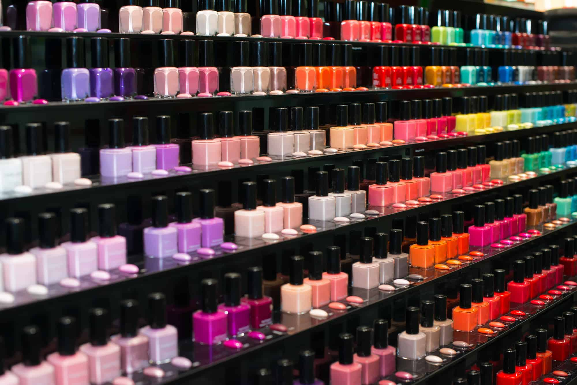 Set of color nail polish. nail polish collection