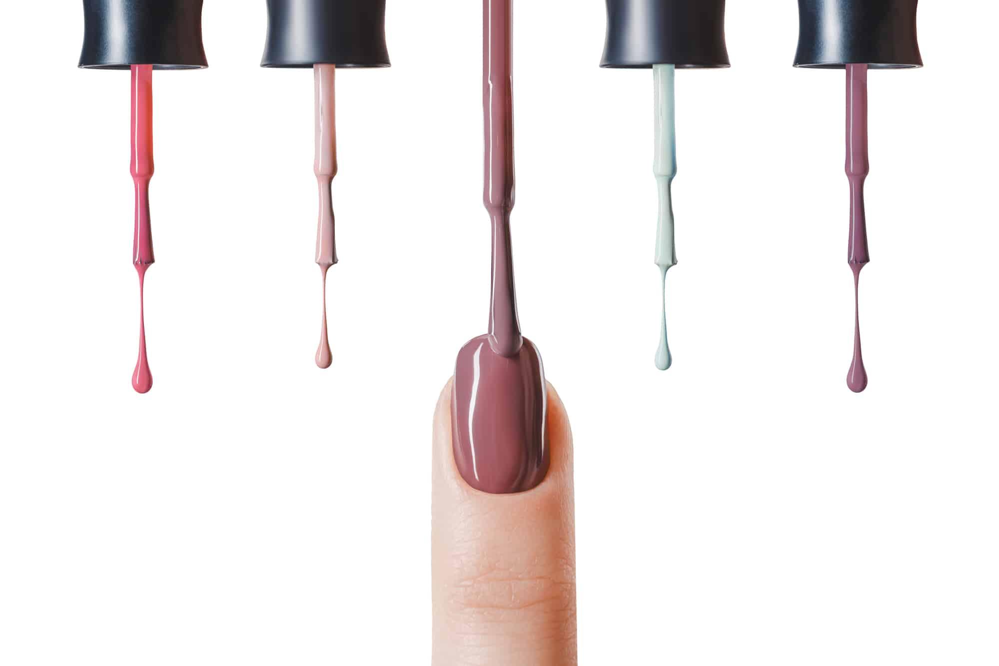 nails polish dripping