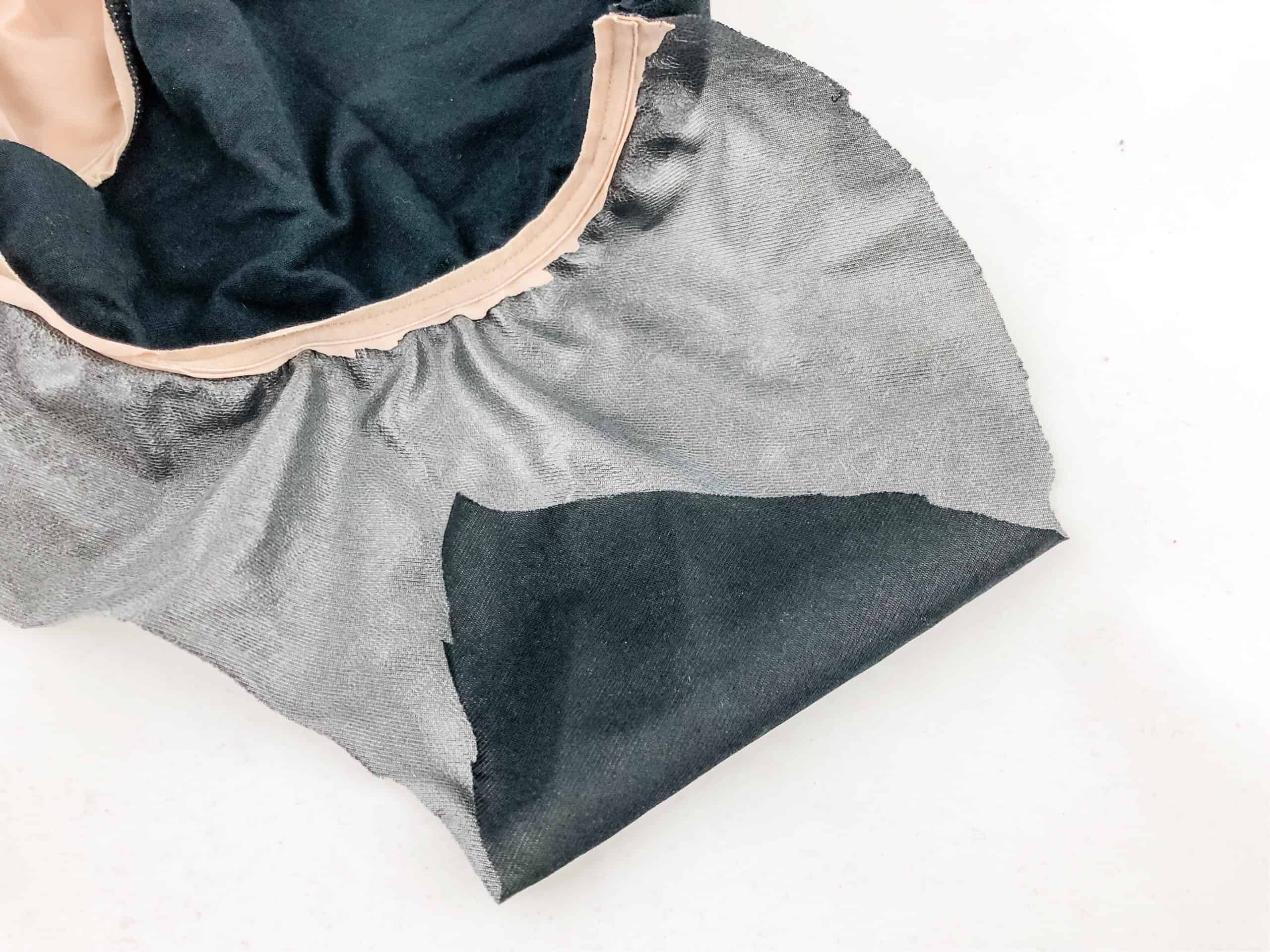 Thinx Period Panties with crotch cut out to expose gusset