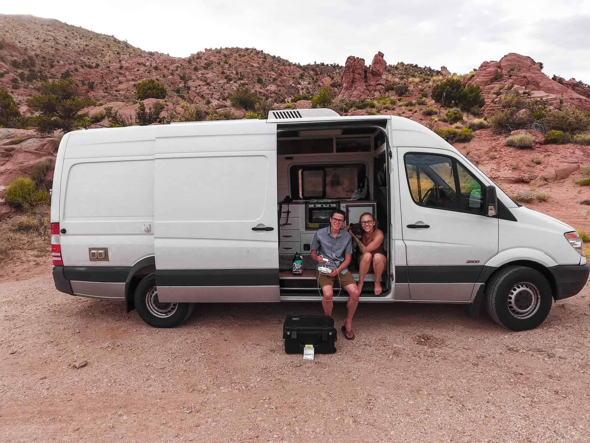 Ashlee Rowland's sustainable van in Utah