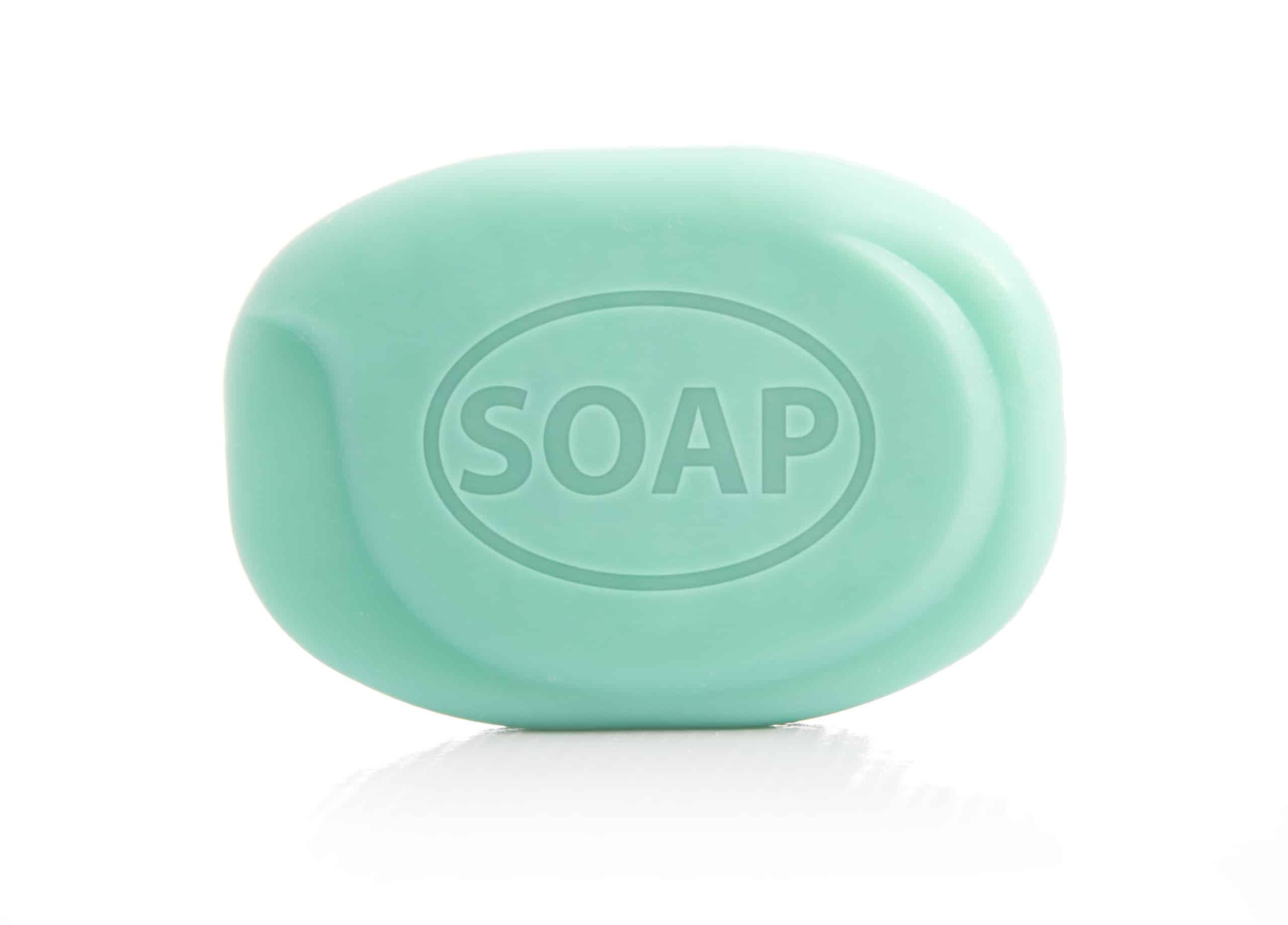 Soap Bar Isolated on White Background