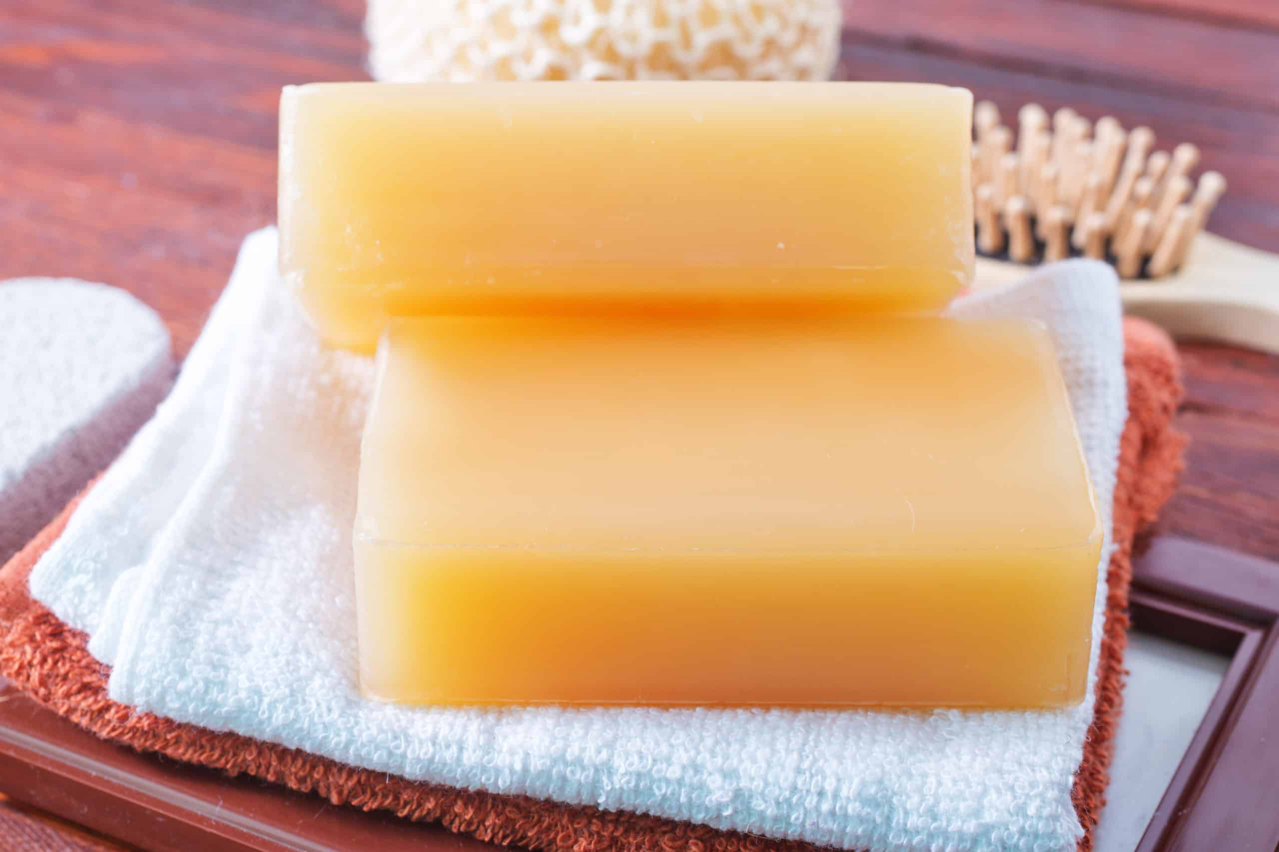 soap that was made at home with organic ingredients