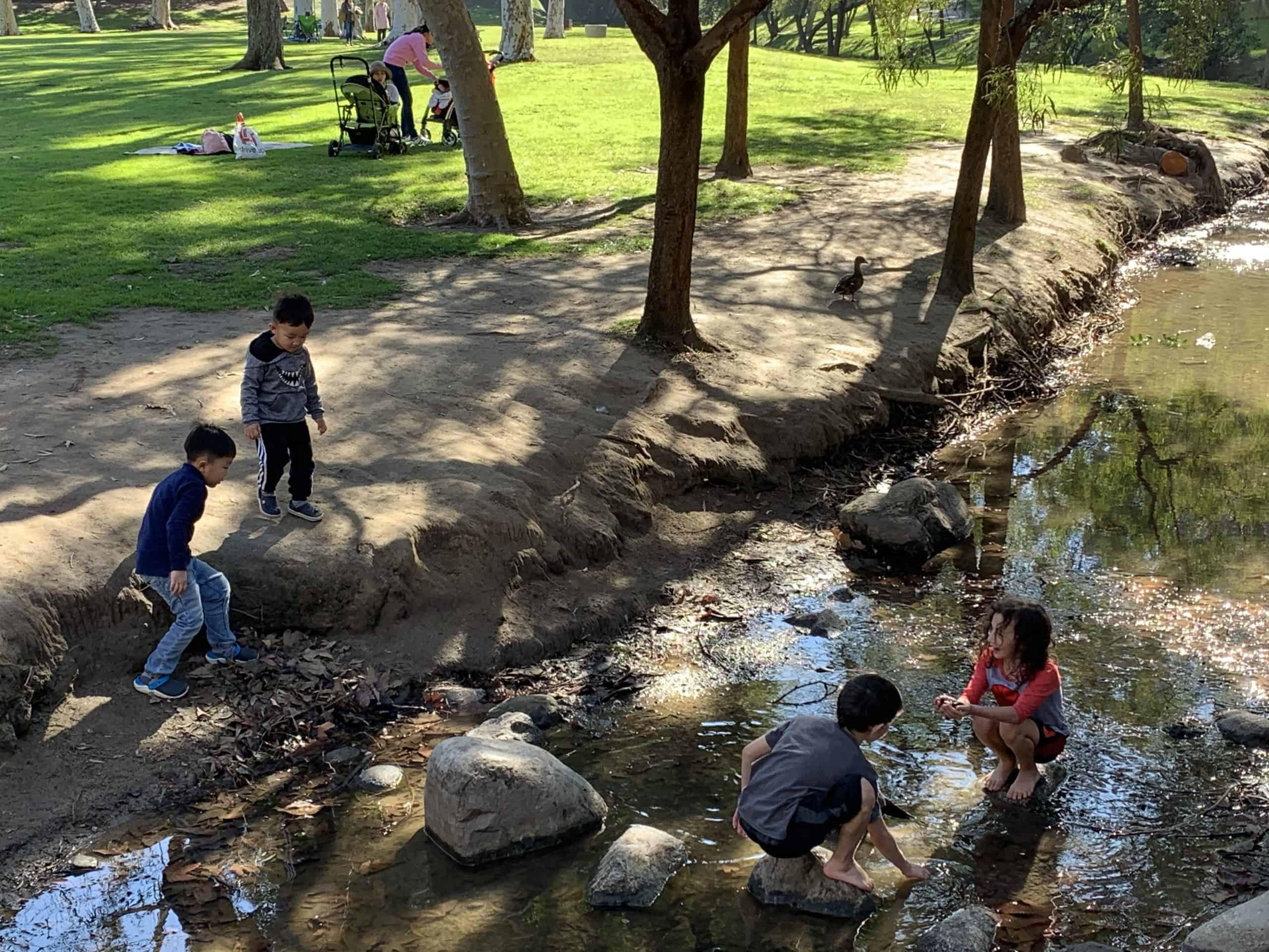 Organic Land Care children in park in irvine, ca