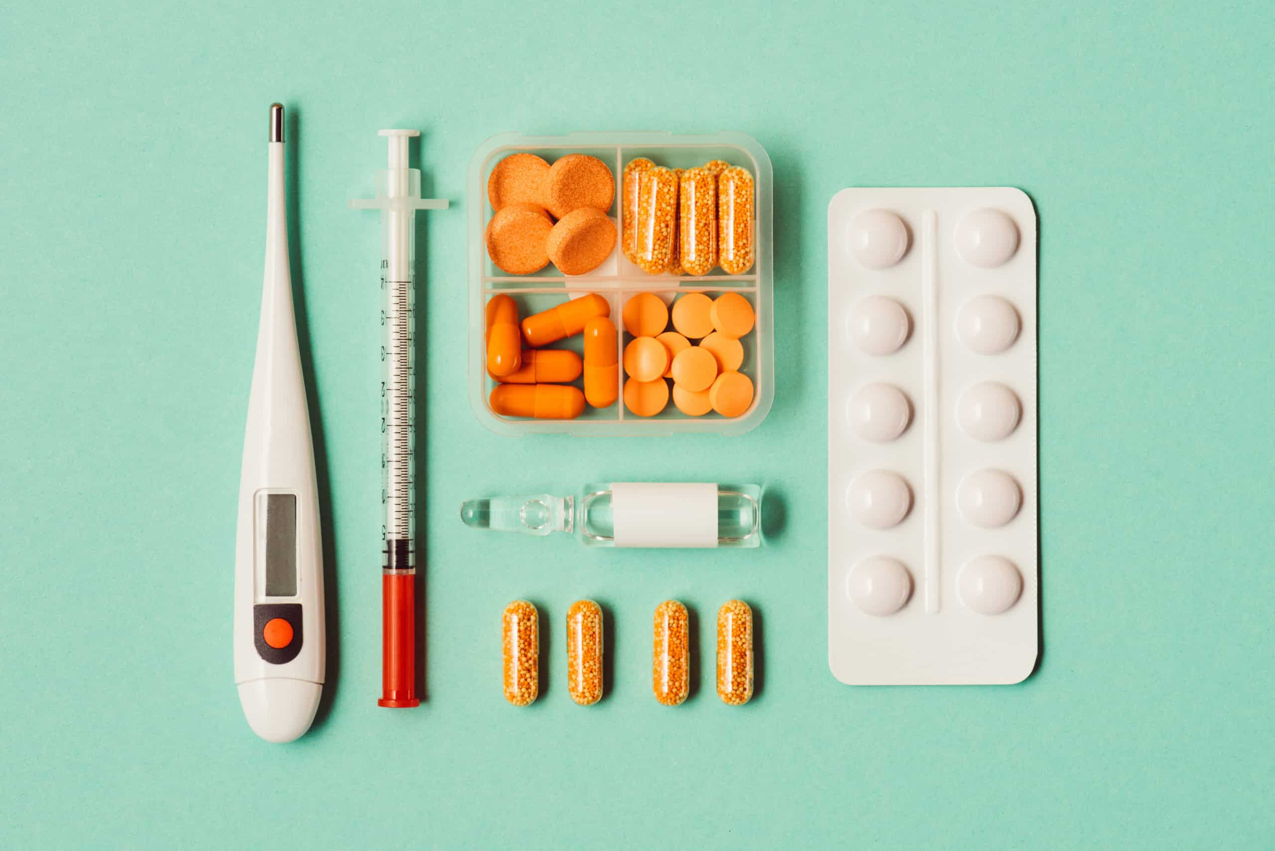 different supplements and medicines for the flu