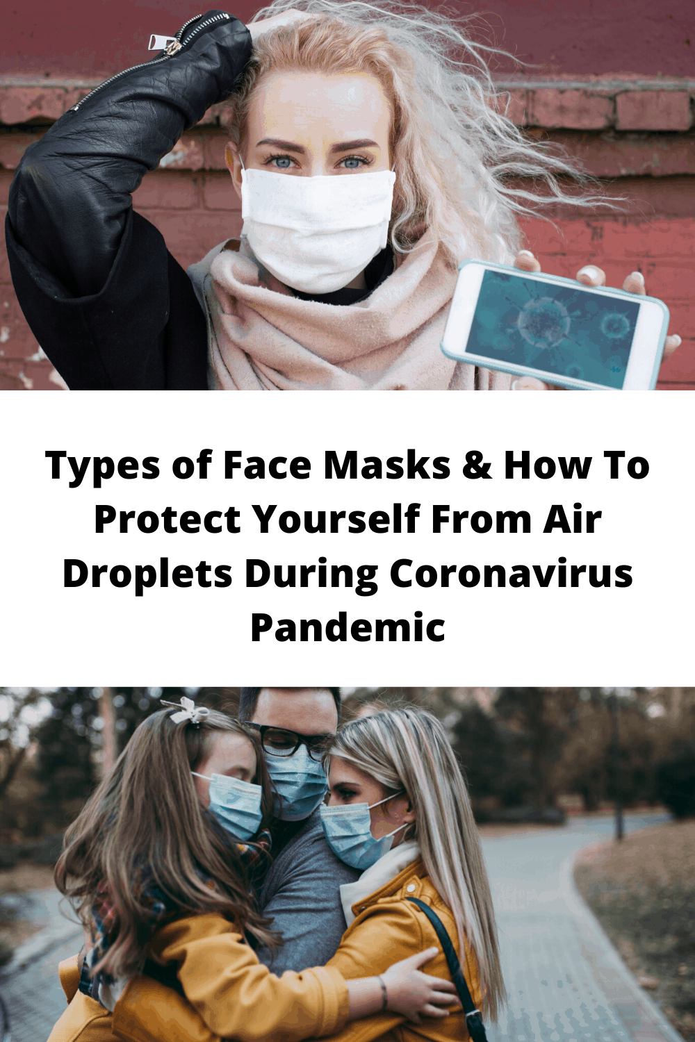 Types of Face Masks & How To Protect Yourself From Air Droplets During Coronavirus Pandemic