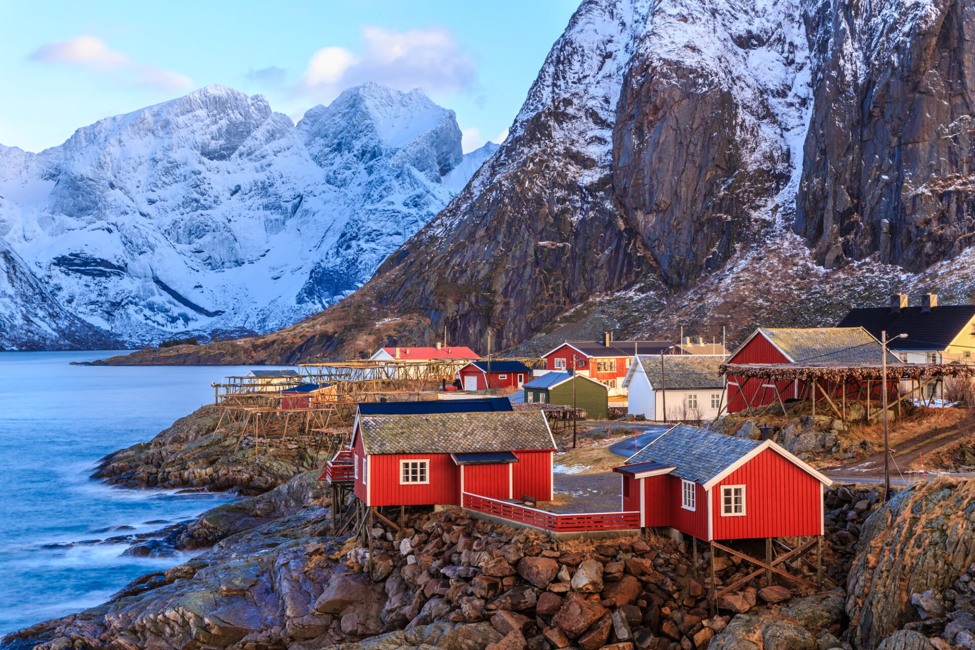Norwegian fishing village by the fjords