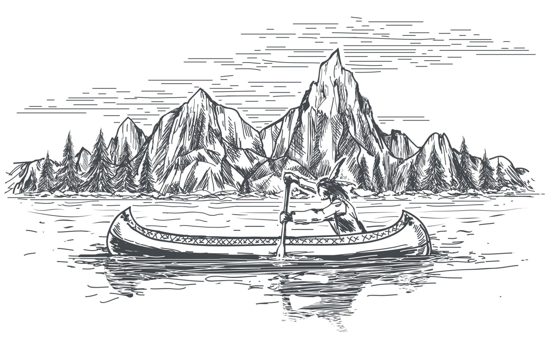 Sami fishing for salmon