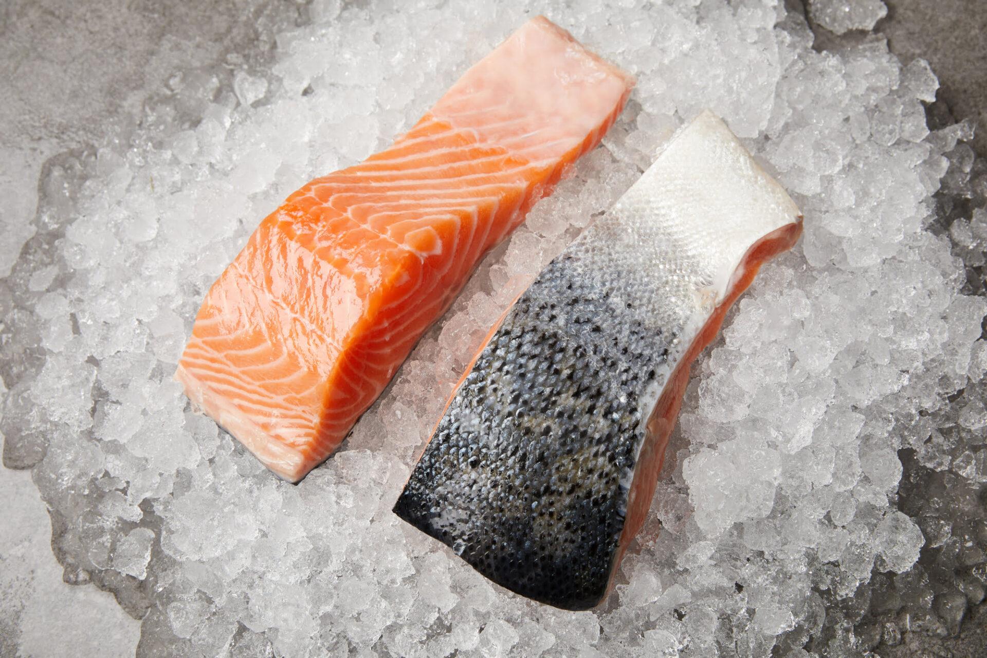 Atlantic farmed salmon from Scotland