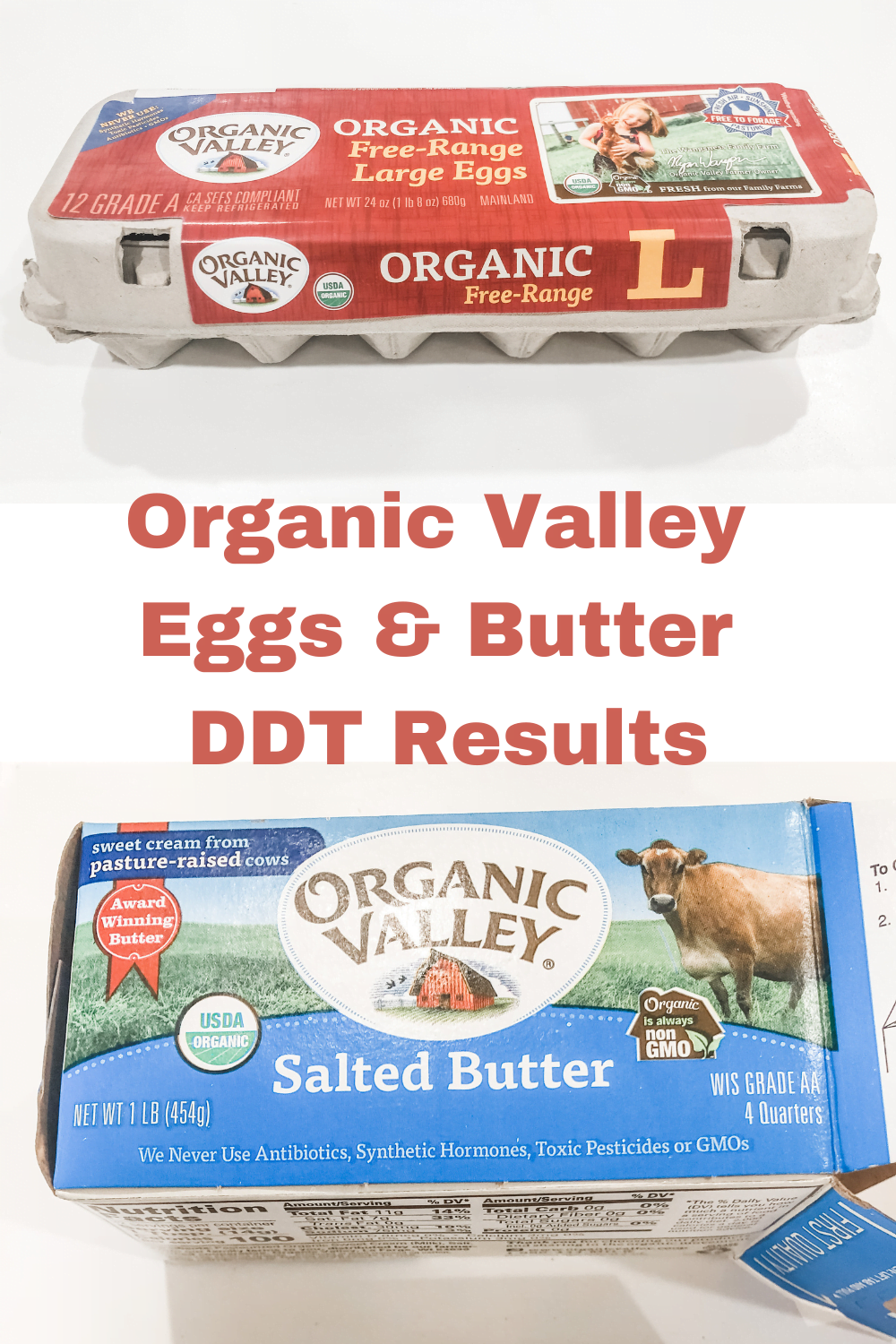 Organic Valley Butter & Eggs--DDT Test Results