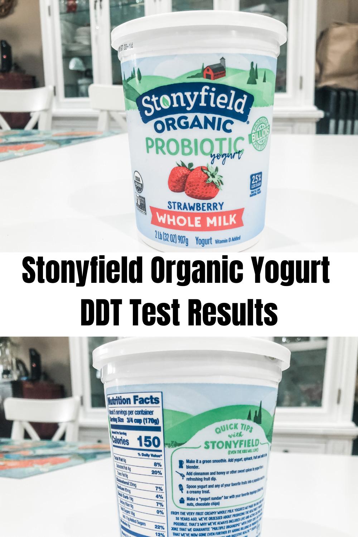 DDT Testing--Stonyfield Organic Yogurt 1