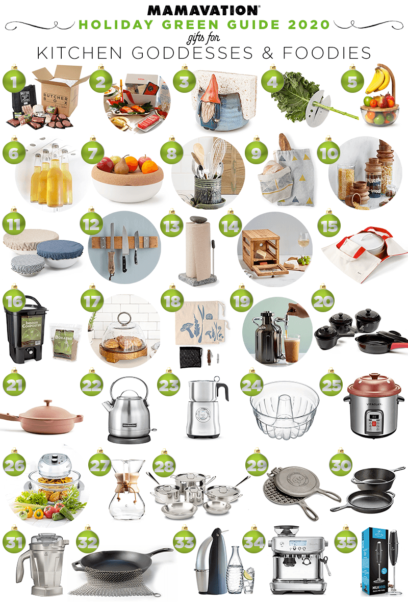 2020 Holiday Gift giving guide for kitchen goddesses and foodies