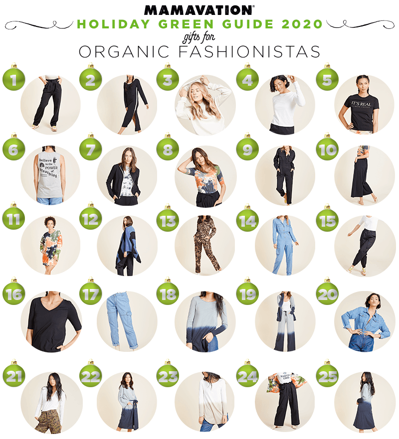 2020 Holiday gift giving guide for organic fashionistas