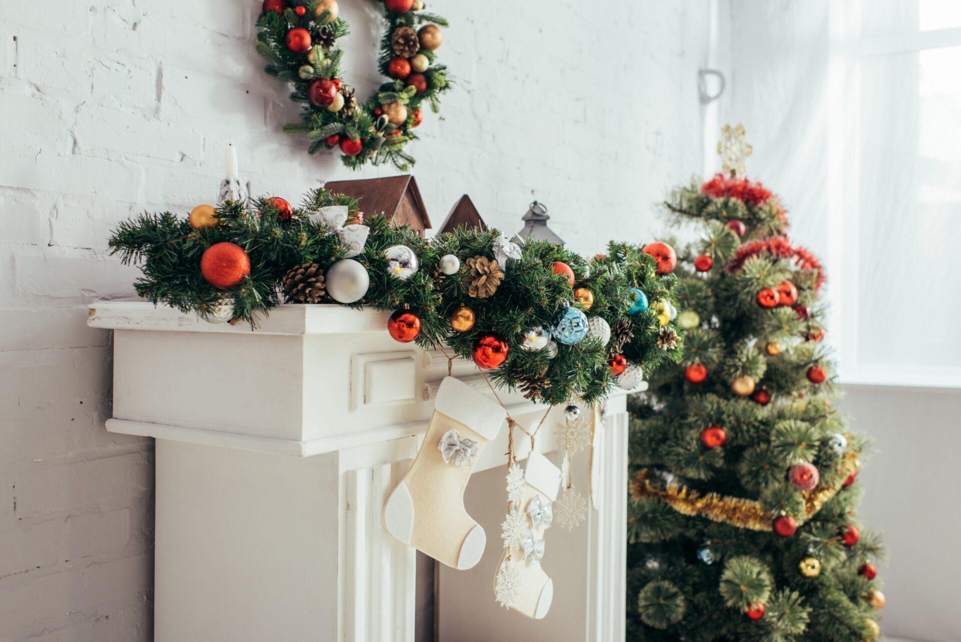 Christmas Trees in white living room