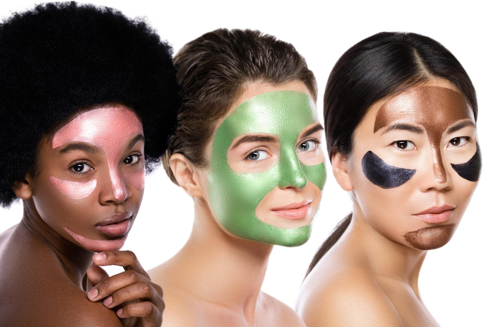 women wearing k-beauty face masks