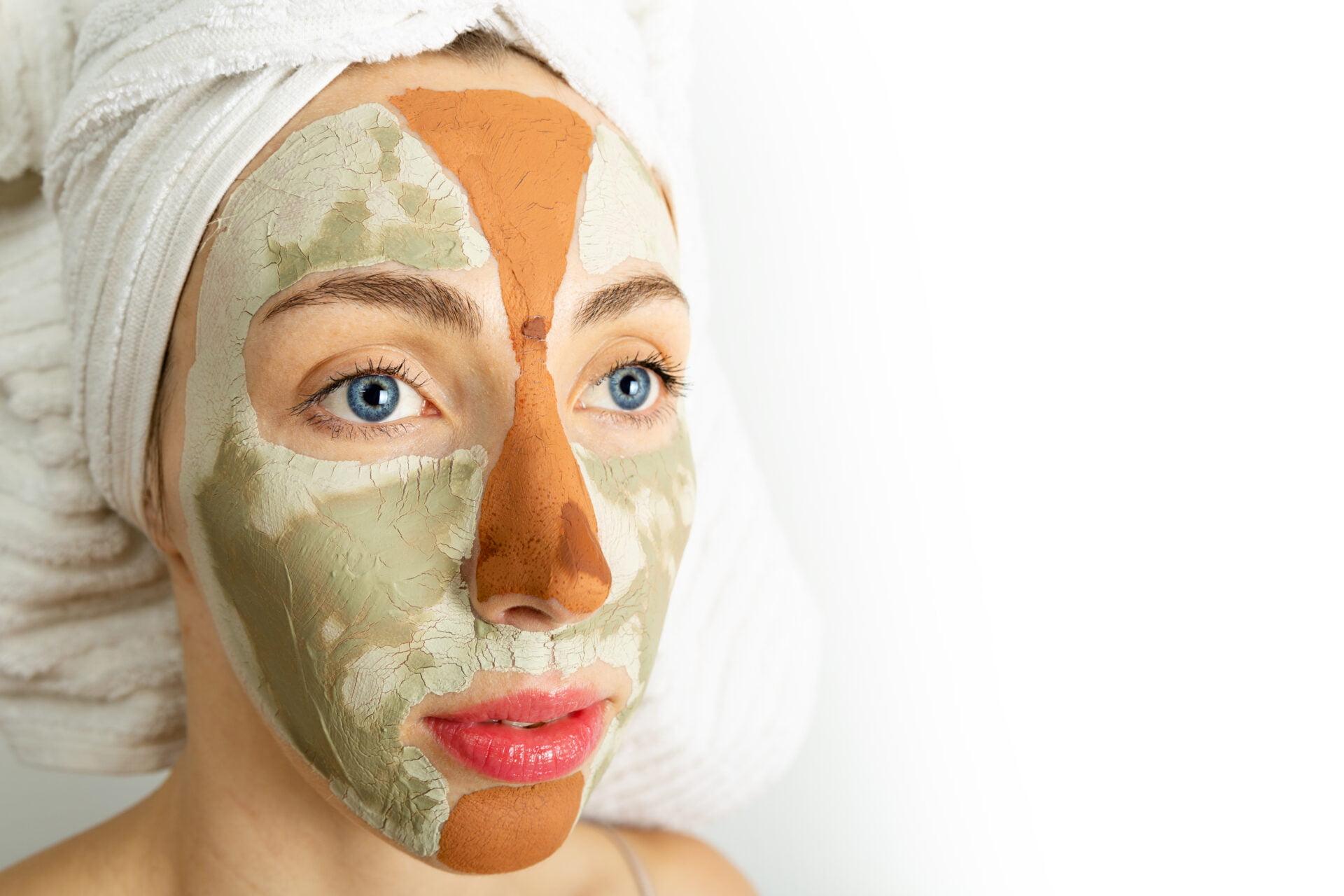 woman wearing a non-toxic beauty peel-off mask