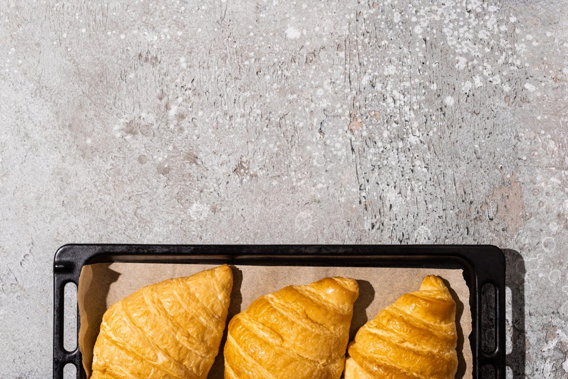 croissants on parchment paper