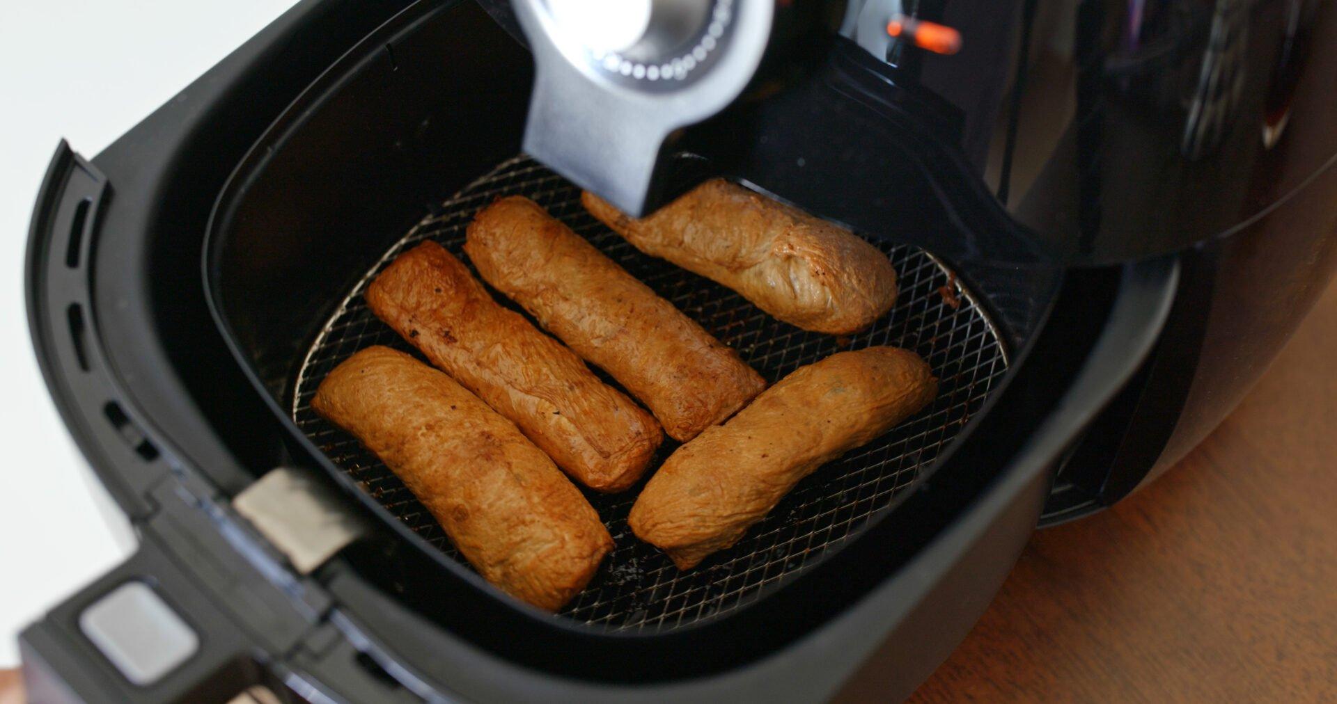Air fryer homemade crispy fish cake roll