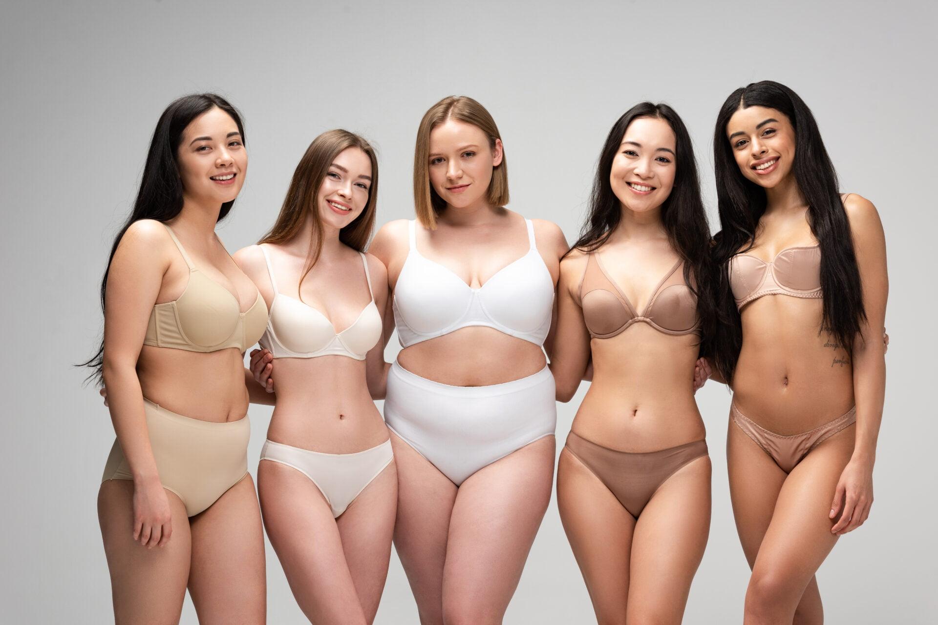 women wearing period panties