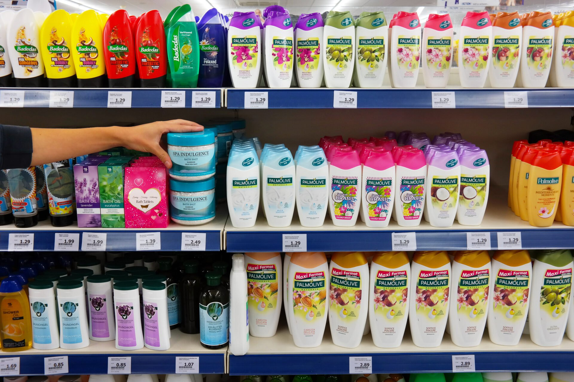 Personal care products in Target's clean beauty aisle