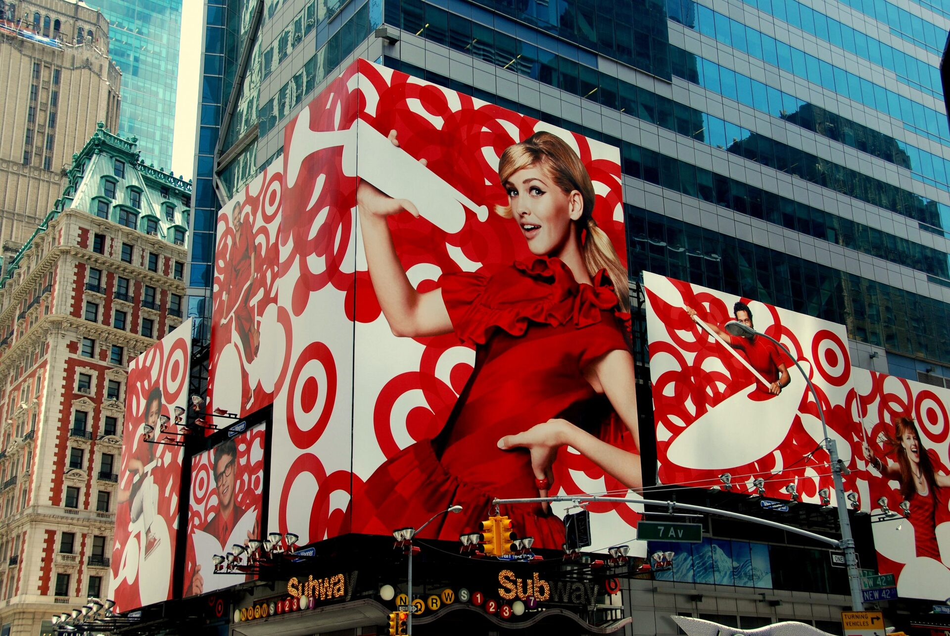 Target logo on New York Square