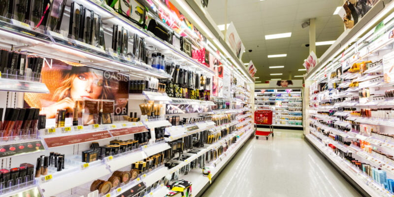 Walking through Target's Clean Beauty Aisle