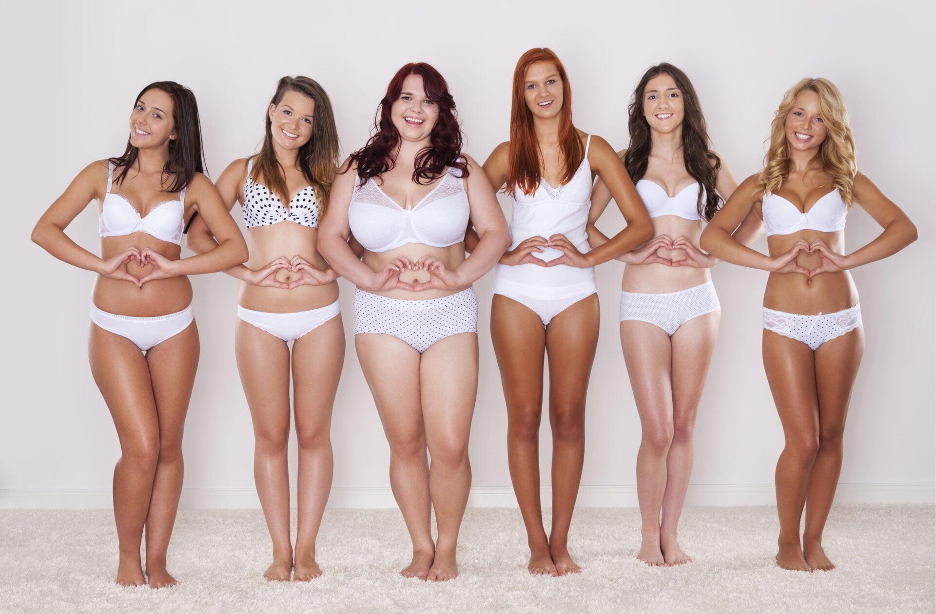 women wearing non-toxic period underwears