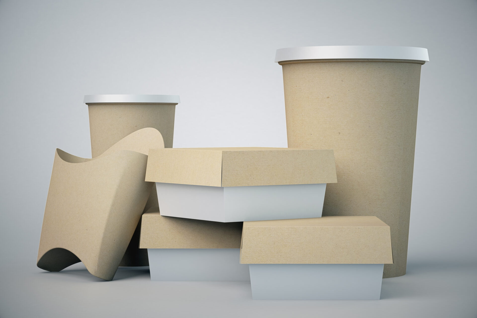 Food packaging without logos