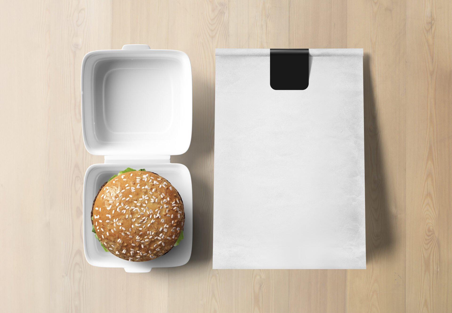 fast food burger packaging
